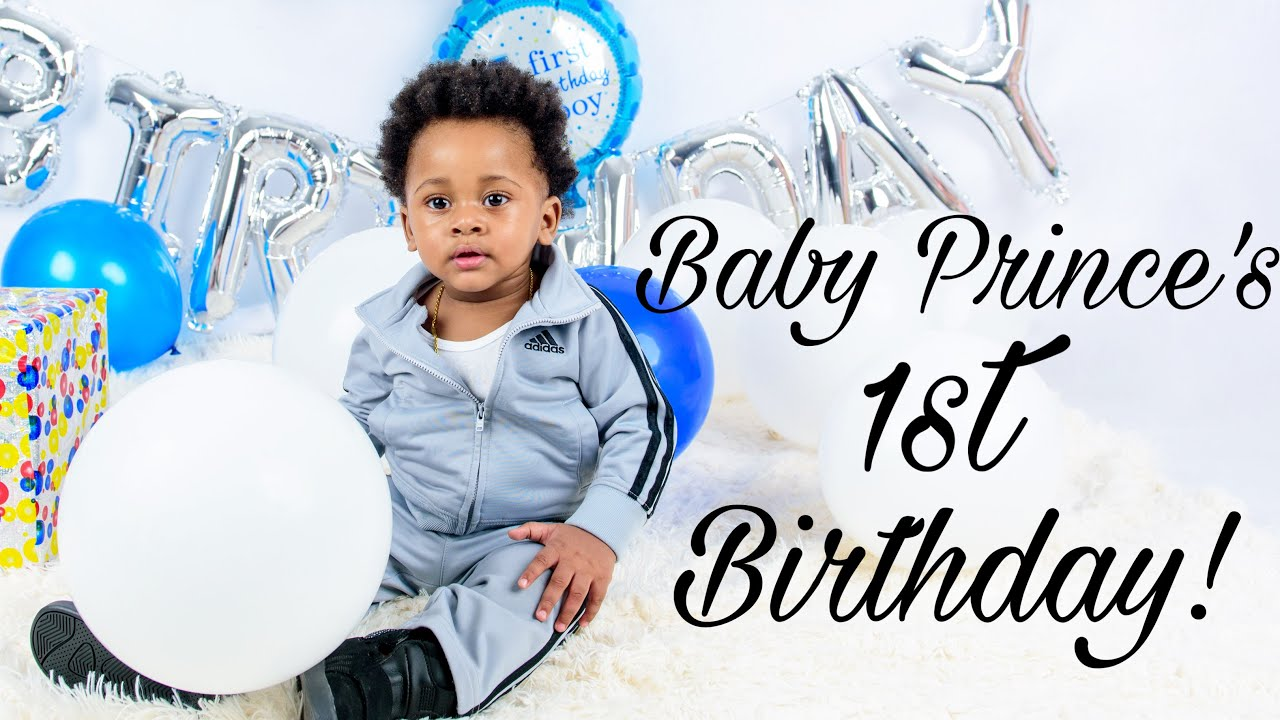 BABY PRINCE'S FIRST BIRTHDAY : Photoshoot, Smash Cake, Gift opening