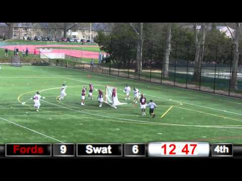 Haverford College Men's Lacrosse Highlights vs  Swarthmore