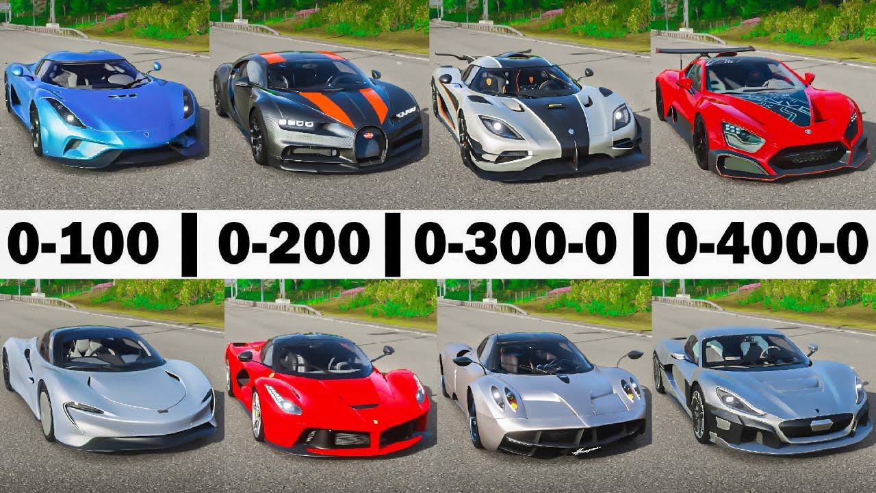 FH4 Acceleration Battle | Zenvo TSR-S, Chiron, One:1, Speedtail, Rimac, Regera, Laferrari & Huayra!