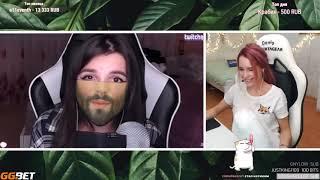 Denly смотрит Топ Моменты с Twitch   Вареник Тендерли Спалила Бороду   ТрапХата