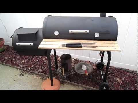 Smoking Ribs On My Char Broil Offset Smoker Doovi