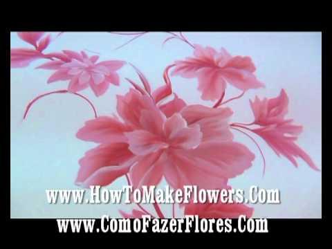 68 como hacer flores com es aprender a pintar sobre - Aprender a pintar en madera ...