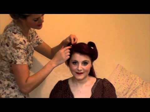 how to style 1940s hair how to do 1940s hair betty s boutique 6901 | hqdefault