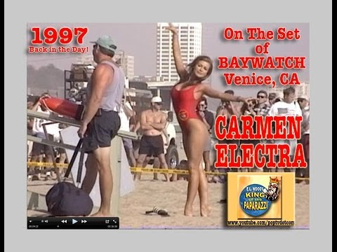 Carmen Electra on the Set of Baywatch B594