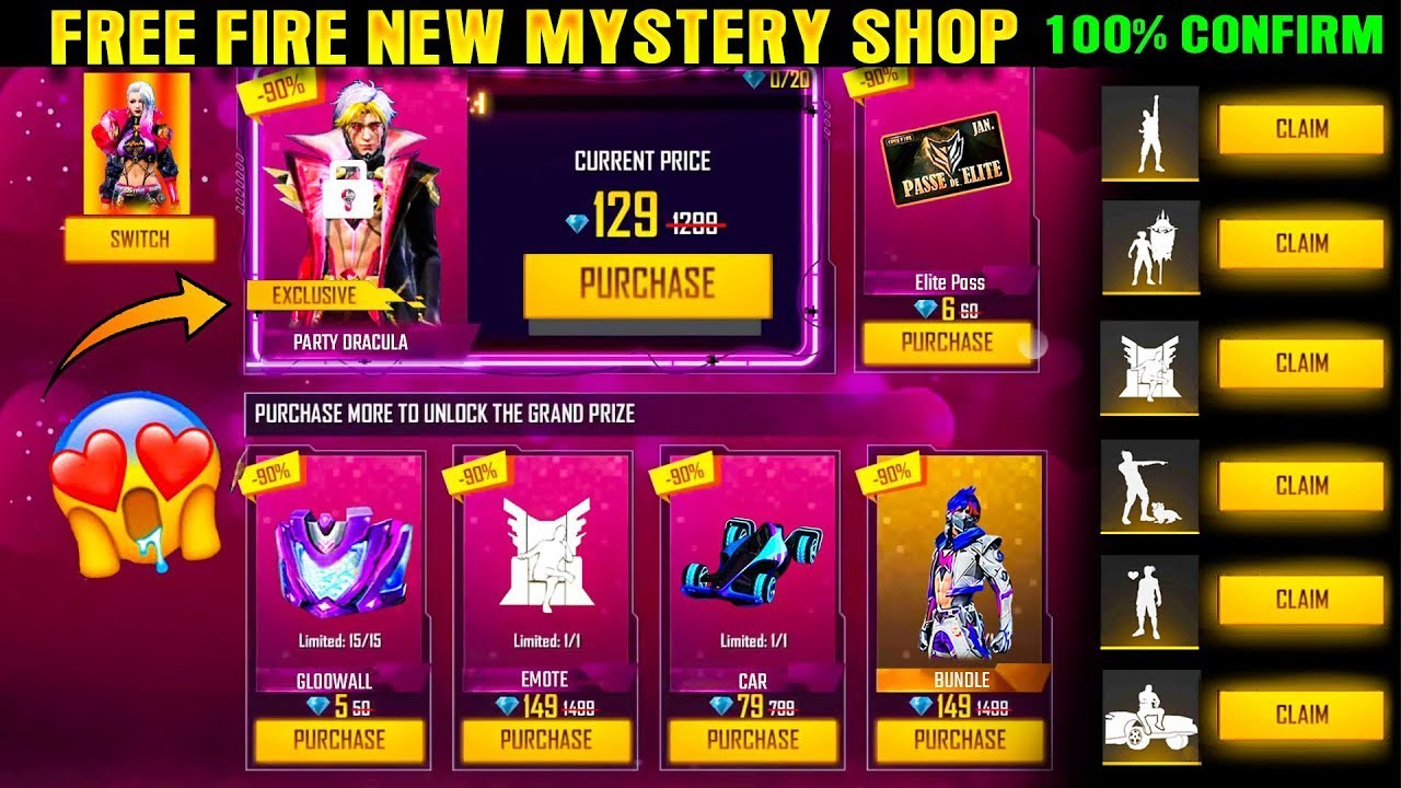 Free Fire Mystery Shop August 2021    mystery shop free fire august 2021    Mystery Shop 13.0 2021