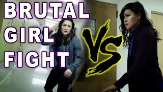 Brutal Girl Fight - Stunt Woman Practice Fight