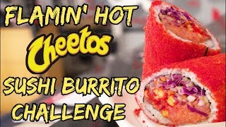 Flamin' Hot Cheetos Sushi Burrito Challenge (The Low-Key Poke Joint) - Wreckless Eating