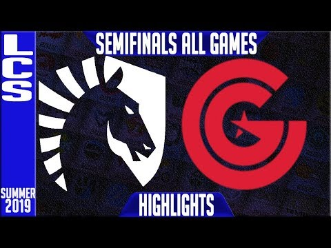 TL vs CG Highlights ALL GAMES | LCS Summer 2019 Playoffs Semi-finals | Team Liquid vs Clutch Gaming