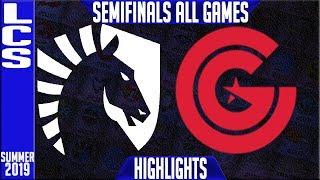 TL vs CG Highlights ALL GAMES | LCS Summer 2019 Playoffs Semi-finals | Team Liquid vs Clutch Gaming