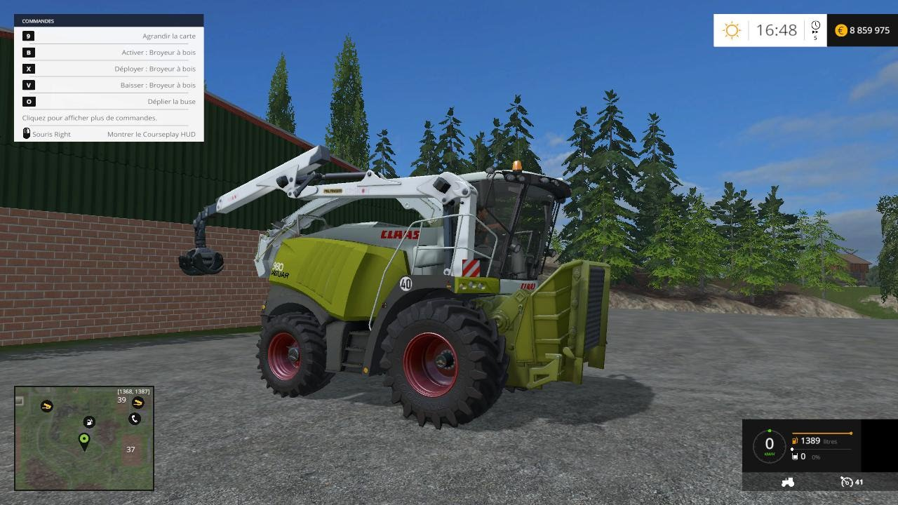 Farming simulator 2015 mod Claas 980 Forêt - YouTube