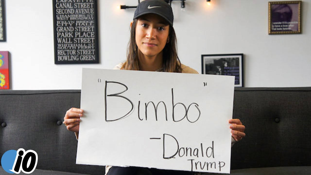 Donald Trumps Sexist Quotes Held Up By Women - Youtube-8380