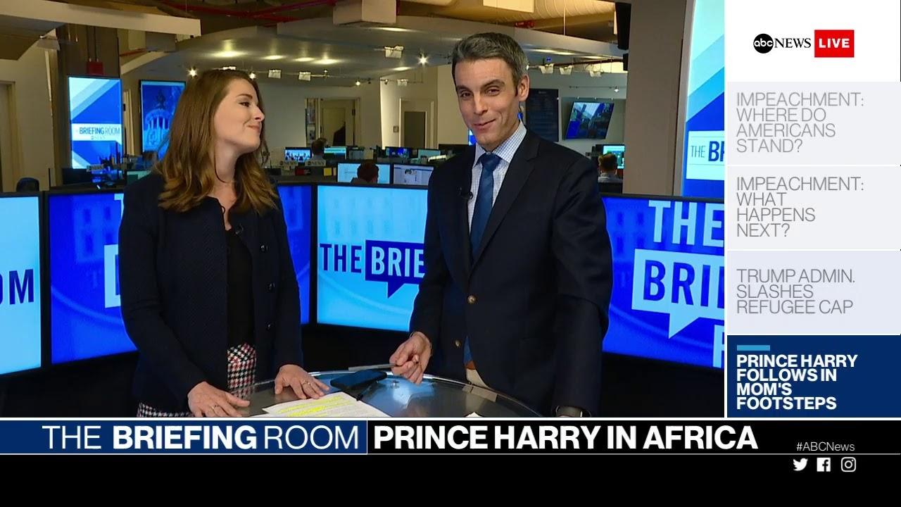Briefing Room: Trump impeachment inquiry, Trump to slash refugee program,  Prince Harry in Angola