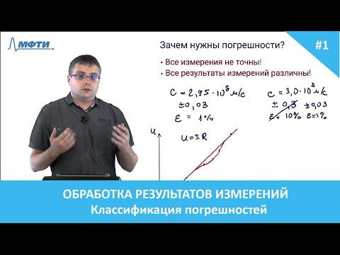 Обработка результатов эксперимента. 1. Классификация погрешностей