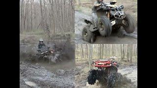 Mud hole competition!  Renegade 1000xxc vs XMR 850 vs Outlander Max 800