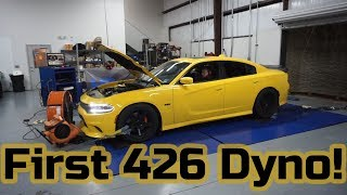 First Dyno of the Procharged 426 Scatpack. Impressive numbers!