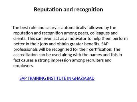 SAP Training Institute in Ghaziabad - YouTube