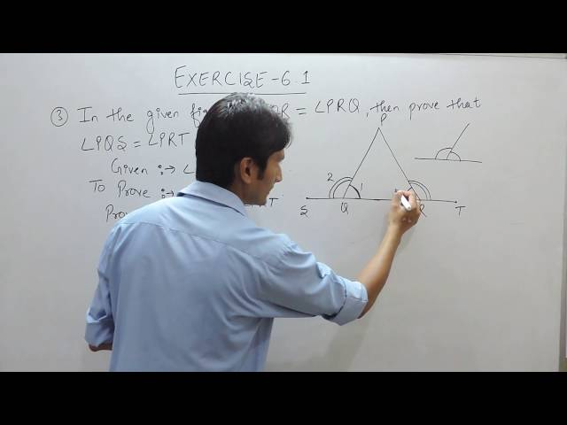 Exercise 6.1 (Lines and Angles) Question 3 NCERT/CBSE Solution for Class 9th Maths