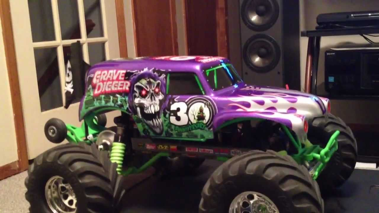 Traxxas Grave Digger 30th Anniversary Vxl Custom 2012
