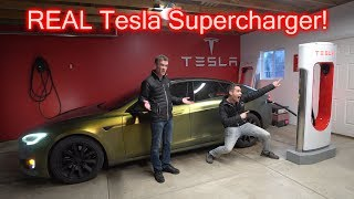 I bought a REAL Tesla Supercharger For My Garage