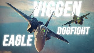 F-15 Eagle Vs AJS-37 Viggen Dogfight | Digital Combat Simulator | DCS |