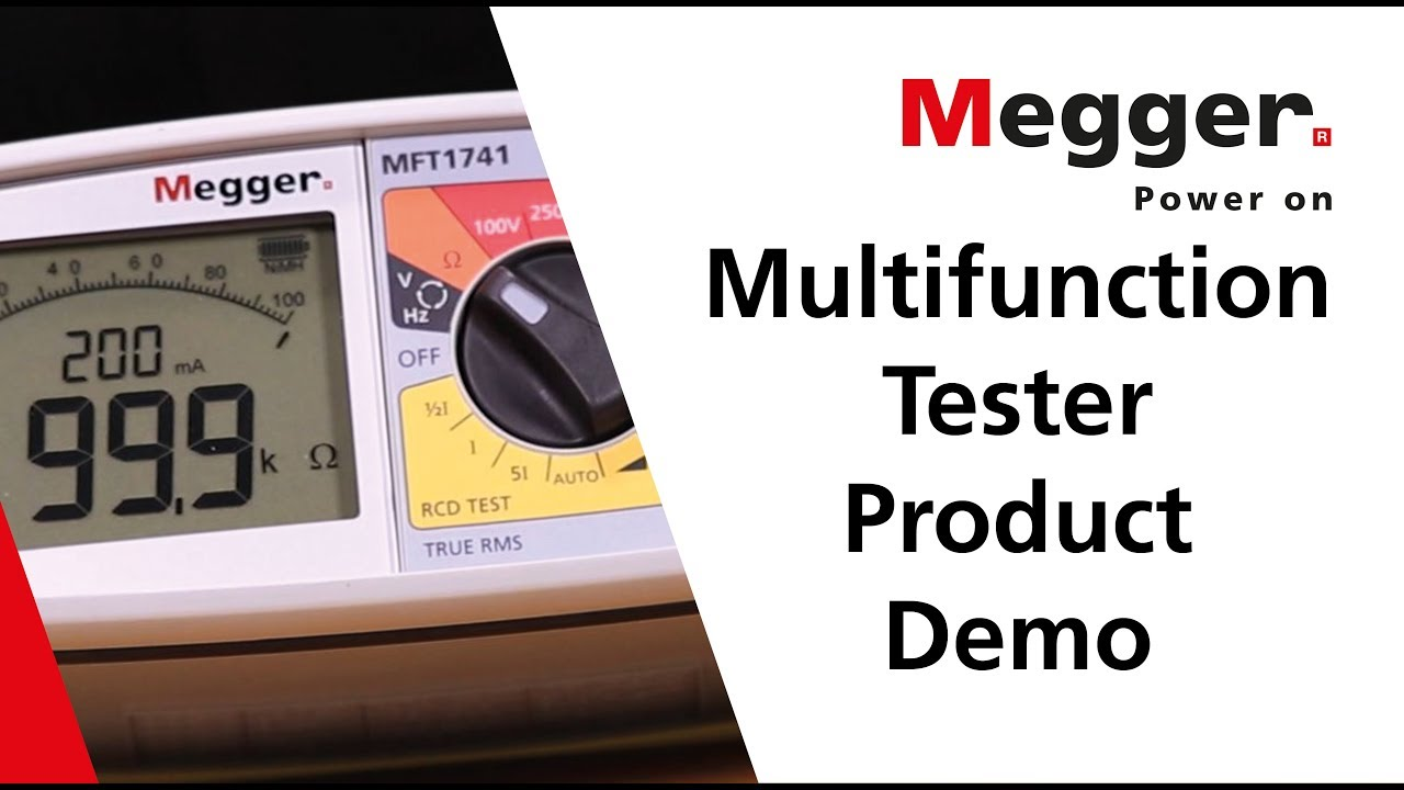 Appliance - MEGGER MFT 1741+