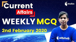 7:00 AM - Weekly Current Affairs MCQ by Krati Ma'am | 2nd February 2020