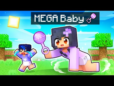Becoming MEGA Baby in Minecraft BABY Simulator! - Aphmau