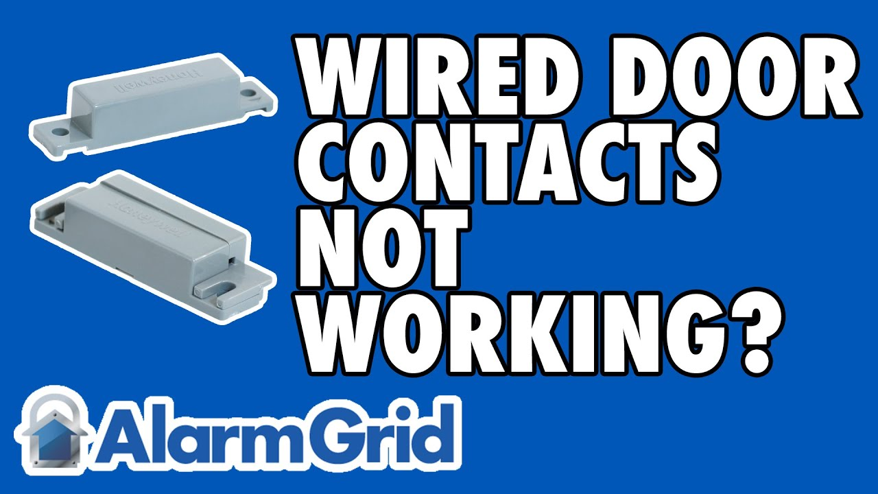 common house wiring alarm reasons why the wired alarm contact on a door may not work youtube  wired alarm contact on a door