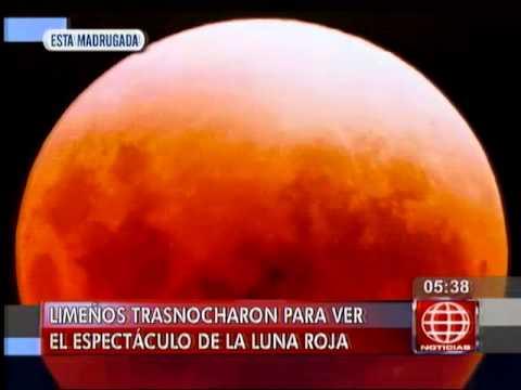 América Noticias: Así se vio la luna roja esta madrugada en Lima