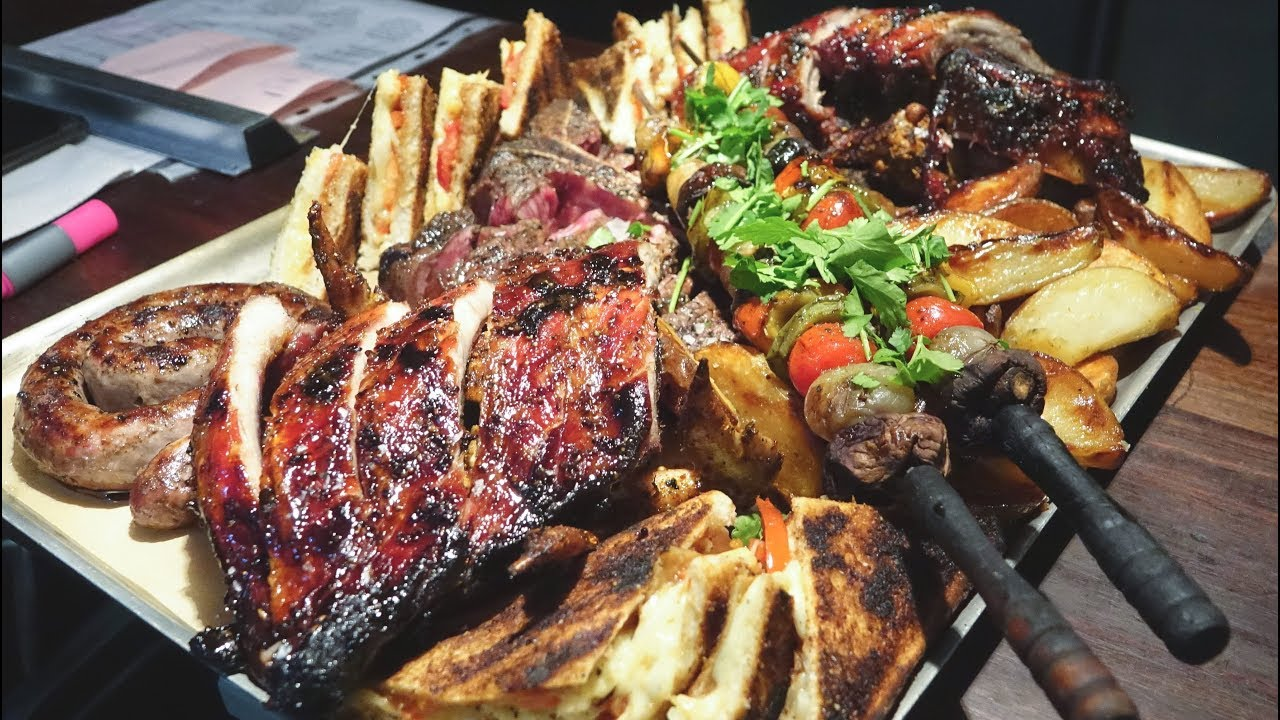 Huge Platters of Meat from South African Cuisine Tasted in London. Plus Mussels, Shells and More