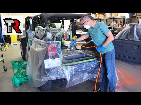 Jeep Wrangler Interior Removal & LizardSkin Insulation Coating