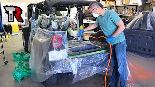 Jeep Wrangler Interior Removal & LizardSkin Insulation Coating