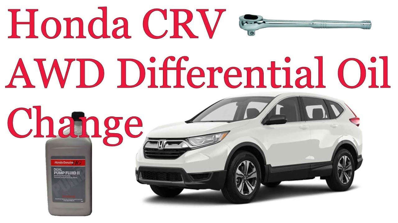 2017-2018 Honda CRV AWD Differential Fluid Oil Change How To
