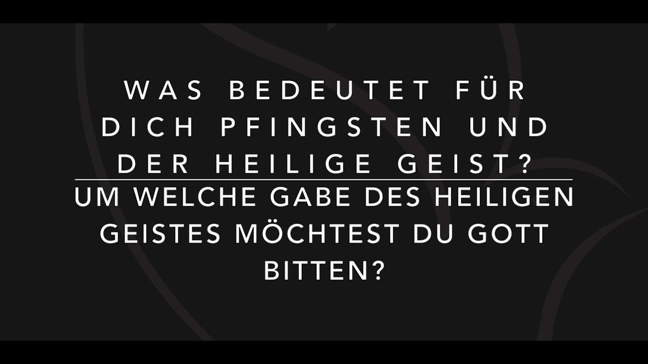 Was bedeutet für mich Pfingsten? - YouTube