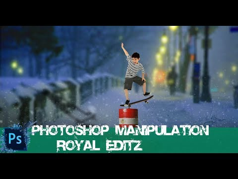 snow skating boy// photoshop manipulation