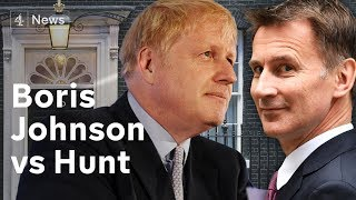 Boris Johnson v Jeremy Hunt for Prime Minister