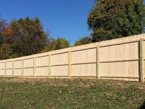 How To Install A Wood Stocade Fence Youtube
