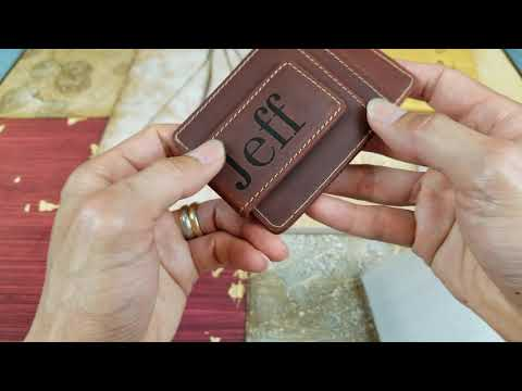 ASMR Opening Personalized Money Clip & Credit Cards Wallet!