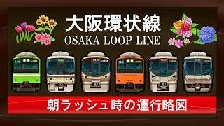 改造プロジェクトが行われた大阪環状線における朝時間帯の運行模様です...