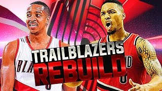 Rebuilding the portland trail blazers! nba 2k17 my league