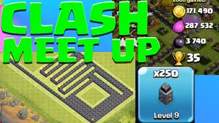 Clash Meet Up! Final LEVEL 9 WALL UPGRADE clash of clans meet up in Chicago