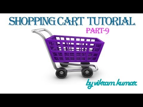 shopping cart tutorial in hindi part -9 - cart page