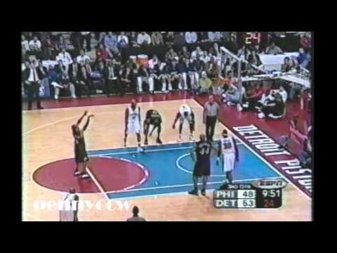 Allen Iverson Full Highlights vs. the Pistons - 2003 NBA Playoff Game 2