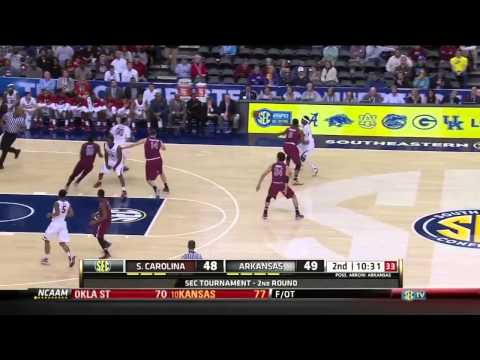 South Carolina vs Arkansas NCAAM 2014 SEC Tournament