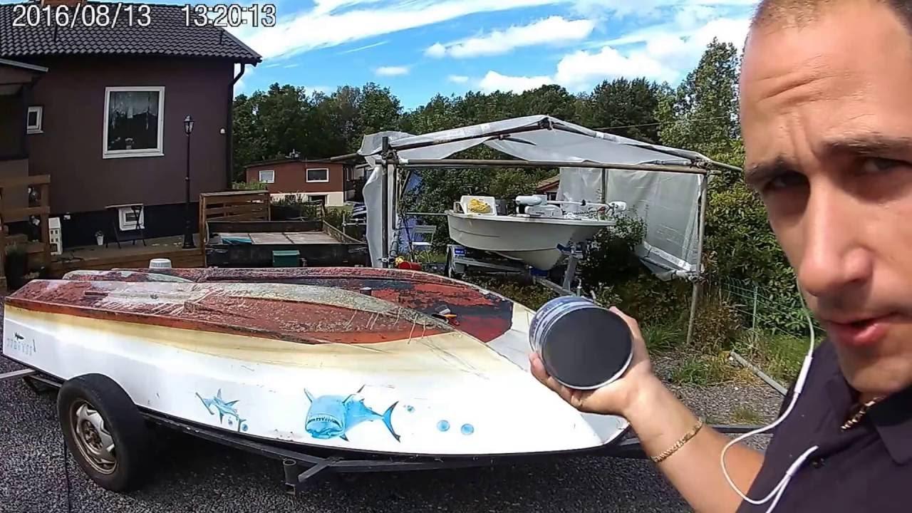 bottenmåla båt slipa