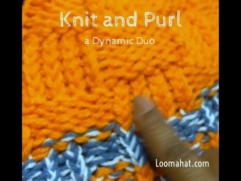 Loom Knitting Stitches Knit And Purl Learn How To Loom Knit K And