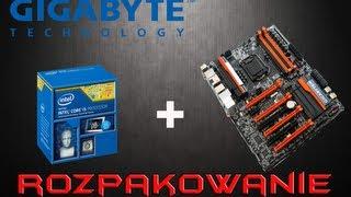 gigabyte z87x oc i intel i5 4670k lga 1150 rozpakowanie