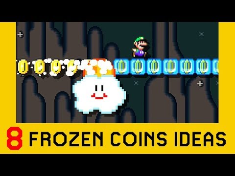 8 Ideas With Frozen Coins (Part 1) - Super Mario Maker 2