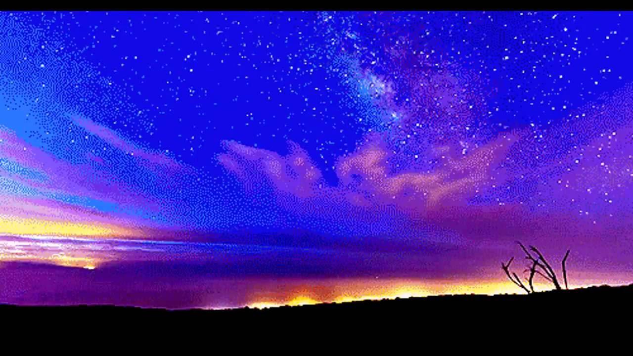 Карандашом, ночь звезды гифка