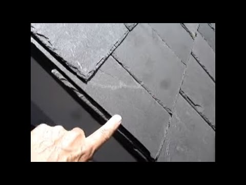 Slate Roof Mistakes Cutting The Slates On Wrong Side